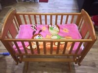 Baby Elegance crib for sale with 2 matresses