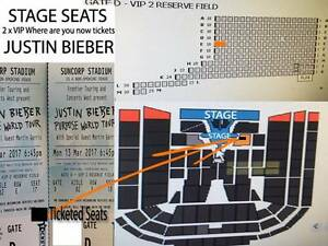 2 x STAGE SEATS VIP Justin Bieber Brisbane for $850 each Bundall Gold Coast City Preview