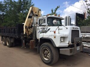 1994 MACK TANDEM AXLE DM688S KNUCKLE BOOM TRUCK