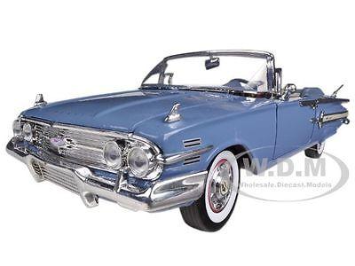1960 CHEVROLET IMPALA CONVERTIBLE BLUE 1/18 DIECAST CAR MODEL BY MOTORMAX 73110