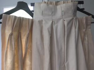 LINED DRAPES 60 inches long x 30 inches wide - 2 panels IVORY
