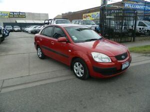 2006 Kia Rio JB EX Red 4 Speed Automatic Sedan Williamstown North Hobsons Bay Area Preview