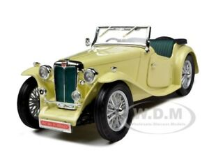 1947 MG TC MIDGET YELLOW 1/18 DIECAST MODEL CAR BY ROAD SIGNATURE 92468