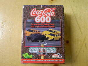 1995 Coca-Cola 600 Speed car race Trading Cards - SEALED