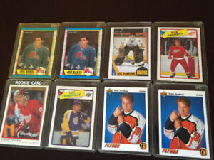 MANY OLD HOCKEY CARDS, 1984 - 1992, INDIVIDUALLY PRICED AND SETS