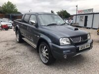 2006 Mitsubishi L200 2.5 TD Trojan Crewcab Pickup 4dr PSH+LONG MOT + UPGRADED ALLOYS