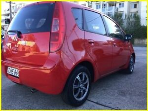 2005 Mitsubishi Colt RG XLS Red 1 Speed Constant Variable Hatchback Kogarah Rockdale Area Preview