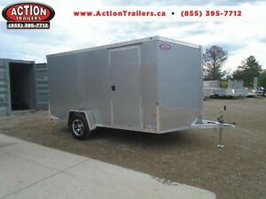 ALL ALUMINUM ENCLOSED 7X12' TRAILER -LIGHT WEIGHT, NO RUST ! London Ontario image 1