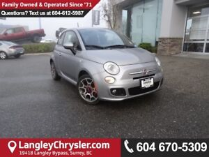 2015 Fiat 500 Sport *ACCIDENT FREE*ONE OWNER*LOCAL BC CAR*