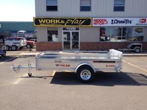 "NEW 2018 K-TRAIL 66"" x 10.25' GALVANIZED UTILITY TRAILER"