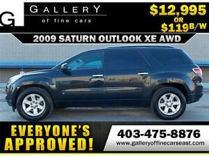 2009 Saturn OUTLOOK XE V6 AWD $119 BI-WEEKLY APPLY NOW DRIVE NOW