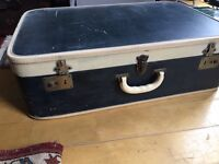 Vintage 60s suitcase side table