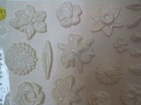 Plaster Mold - Flowers & Buds