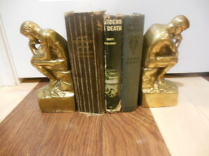 Vintage Brass bookends- Rodin's-The Thinker- Birks London Ontario image 2