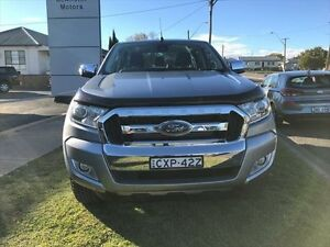 2015 Ford Ranger PX MkII XLT 3.2 (4x4) Silver 6 Speed Automatic Dual Cab Utility Young Young Area Preview