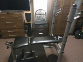 domyos weights and bench 160£