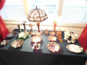 Online Estate Auction - Oil Lamps, Artwork, Crocks etc