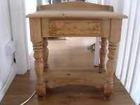 really nice wood side table with draw selling cheap as needs sanding or painting