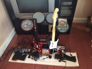 PS2 Guitare Héros + ROCK BAND
