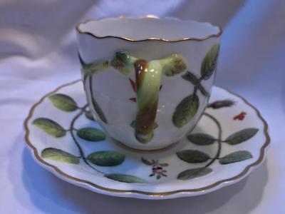 Royal Worcester The Blind Earl Cup & Saucer Set Raised Motif Pristine