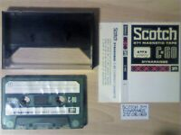 RARE 1969 SCOTCH 3M DYNARANGE 272 MAGNETIC C-90 CASSETTE TAPES. THEIR FIRST EURO ISSUE
