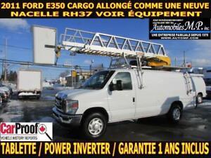 2011 Ford E-350 CARGO ALLONGÉ NACELLE RH37 COMME UNE NEUVE