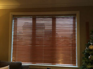 Wood window blinds and patio blinds