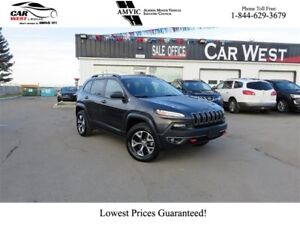 2016 Jeep Cherokee Trailhawk | 4X4 SUV | MOONROOF | LEATHER