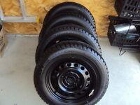 VW Jetta Steel Winter Wheels w/ 4 Great Winter Tires