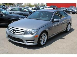 2012 MERCEDES C250 4MATIC/AWD 57.880 KM, TOIT, A/C DOUBLE, CUIR