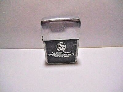 Vintage Park Flip Top Ad Lighter   American General Life Insurance Houston  Tx
