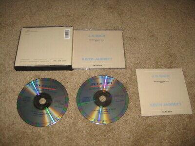 JS J.S. Bach The Well Tempered Klavier Book 1 Jarrett 2 CD Original W Germany