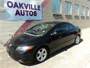 2008 Honda Civic Cpe EX-L-MANUAL-LEATHER-SUNROOF-WINTER TIRES