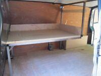 VW Transporter T5 T6 shelf kit, tube steel with a wood shelf
