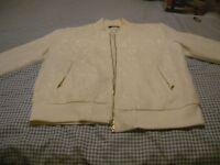 ladies white jacket size 14