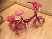 Girls Bumper Angel Purple & Pink Bike