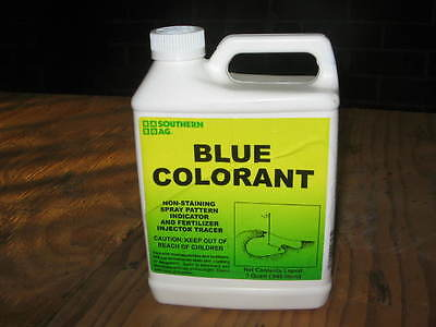 BLUE COLORANT, Spray Pattern Indicator, No-Stain, Quart