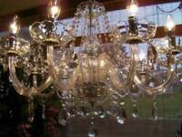 ~ABSOLUTELY BEAUTIFUL Pure Lead Crystal Chandelier VERY LARGE