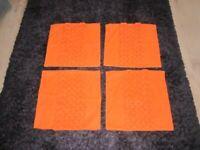 4 x cushion covers orange John lewis 45 x 45 cm