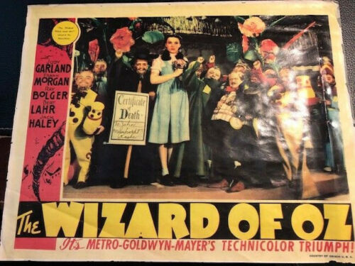 MEINHARDT RAABE WIZARD OF OZ CORONER AUTOGRAPHED 11x14inch Lobby Card REPRO COA