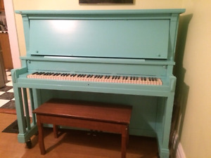Antique Piano with bench For Sale