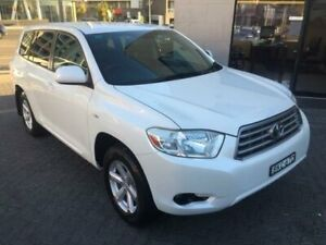 2009 Toyota Kluger GSU40R KX-R (FWD) 5 Seat White 5 Speed Automatic Wagon North Strathfield Canada Bay Area Preview