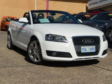 2009 Audi A3 8P 2.0 TFSI Ambition White 6 Speed Direct Shift Cabriolet Belconnen Belconnen Area Preview