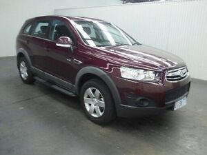2012 Holden Captiva CG Series II 7 SX (FWD) Burgundy 6 Speed Automatic Wagon Moonah Glenorchy Area Preview