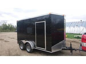 NEW 2017 CArgo 7X12 + V NOSE Enclosed Trailers