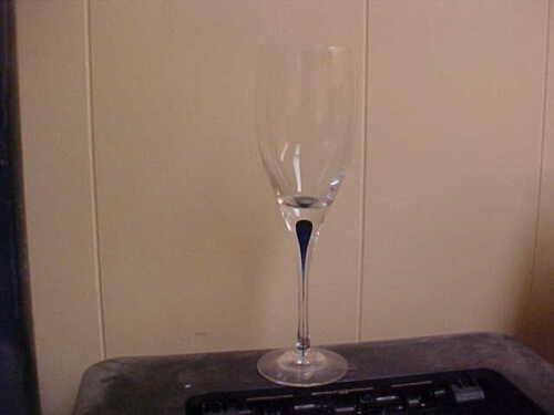 "Orrefors Intermezzo Blue 9"" Wine Goblet"