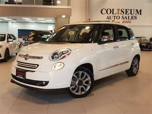 2015 FIAT 500L LOUNGE-AUTO-LEATHER-PANO ROOF-CAM-ONLY 82KM