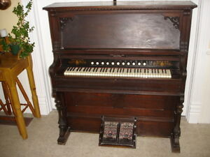 harmonium Dominion et piano mécanique ancien à vendre