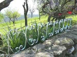 Bordura per giardino siepe fiori in ferro lavorato zincato - Fiori per bordure giardino ...