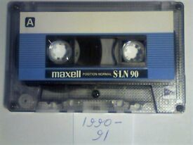 MAXELL S-LN 90 CASSETTE TAPES. 1990-1991. THE C60/120 ALSO AVAILABLE AND MOST TYPE 1 ARE ON OFFER.